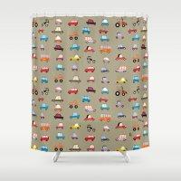 cars Shower Curtains featuring Cars by Marcelo Badari