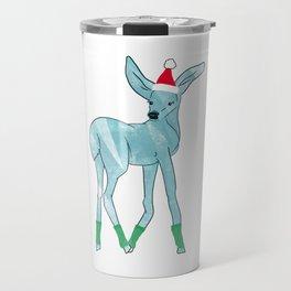 Merry Christmas Deer Travel Mug