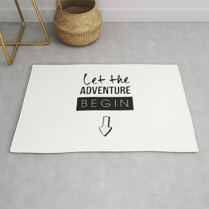 let the adventure begin Rug