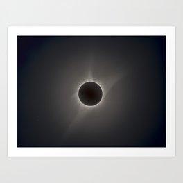 solar eclipse 21 of august 2017 Art Print