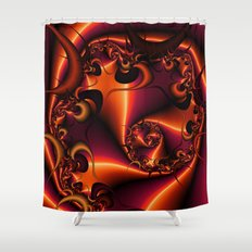 Flaming Thorn Shower Curtain