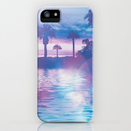 Tropical Paradise In Surreal Light iPhone Case