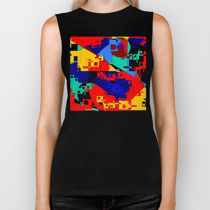 Key Lock Abstract Biker Tank