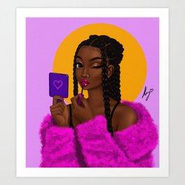 lipgloss Art Print