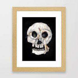 Tarot Reader Girl - Optical Illusion Skull Framed Art Print