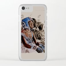 BRONX BOXING BOYS - sepia/blue version Clear iPhone Case