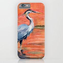 Great Blue Heron in Marsh iPhone Case