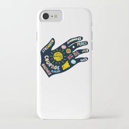 Positivity – Helping Hand iPhone Case