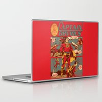 captain Laptop & iPad Skins featuring Captain Obvious! by Joshua Kemble