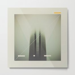 Devon Tower Divided By Fog Metal Print