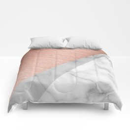 Rose Gold and Marble Comforters