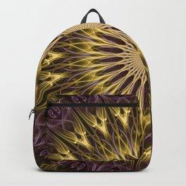 Golden and purple mandala Backpack