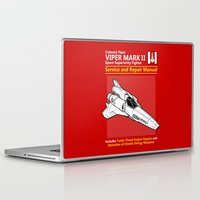 battlestar Laptop & iPad Skins featuring Viper Mark II Service and Repair Manual by adho1982