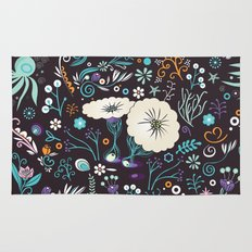 Subsea floral pattern Rug