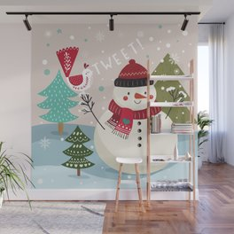 The Sweet Song Of Winter Friends Wall Mural