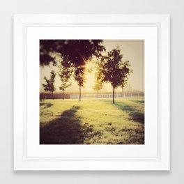 Lancaster sunrise Framed Art Print