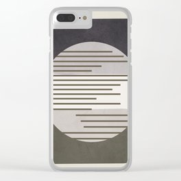 Abstract Geometric Art 50 Clear iPhone Case