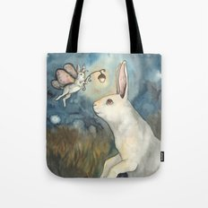 Night Bunny Fairy Tote Bag