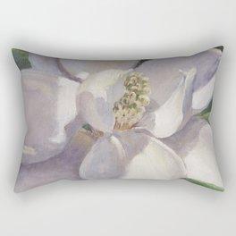 Magnolia Blossom Painting Rectangular Pillow