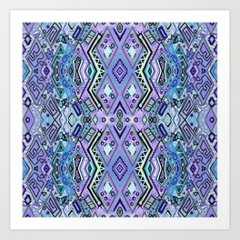 Blue Diamonds Art Print
