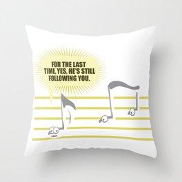 Sheet music Couple Follow Musician Playing Funny Gift Throw Pillow