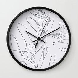 Monstera Illustration 02 Wall Clock