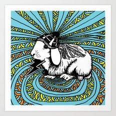 Patrick Swayze the rabbit Art Print