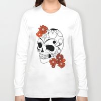 sugar skull Long Sleeve T-shirts featuring Sugar Skull by Tanya Thomas