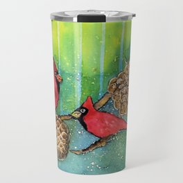 Christmas Cardinals Travel Mug