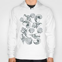 shells Hoodies featuring shells by sustici