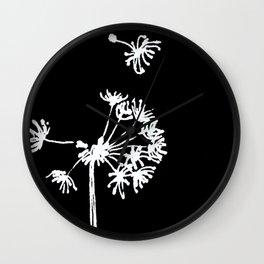 Dandelion 2 Drawing Wall Clock