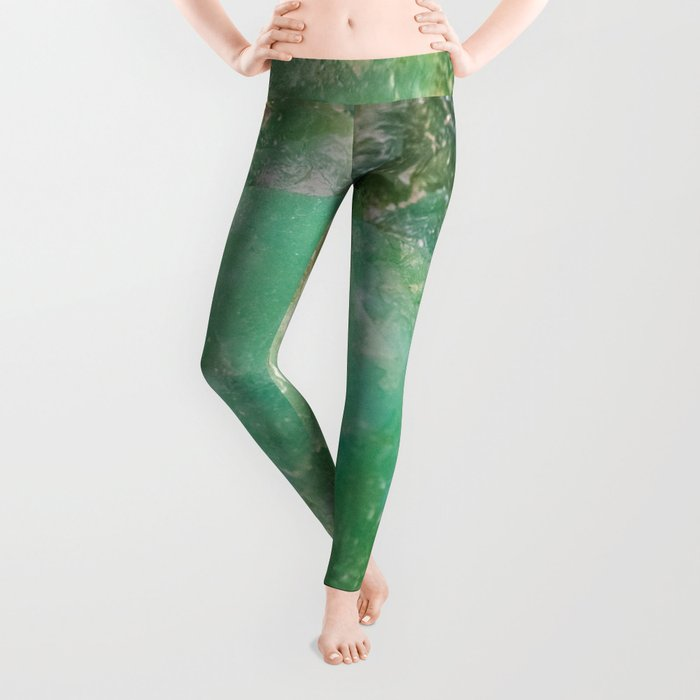 Absinthe Green Quartz Crystal Leggings