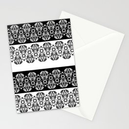 Black and white lace pattern . Stationery Cards