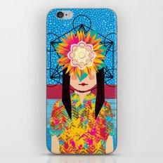 Sunflower Girl iPhone & iPod Skin