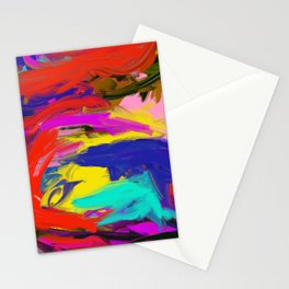 Rainbow Abstract II Stationery Cards