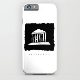 Parthenon in ink iPhone Case