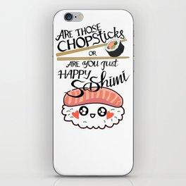 Chopsticks Sashimi iPhone Skin
