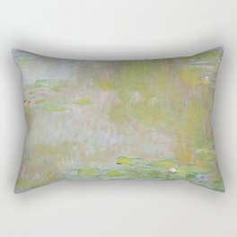 Water Lily Pond by Claude Monet Rectangular Pillow