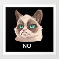 grumpy Art Prints featuring Grumpy by Corelle_Vairel