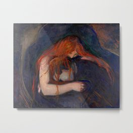 Edvard Munch - Love and Pain (The Vampire) Metal Print