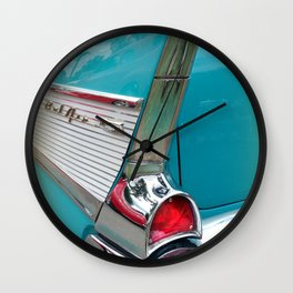 Classic Car Turquoise Wall Clock