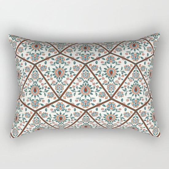 Geometric Deco Floral Rectangular Pillow
