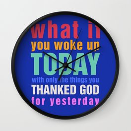 What If - Blue Wall Clock