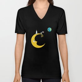 Man on the Moon Unisex V-Neck