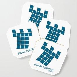 Binary Fortress Software (blue logo) Coaster