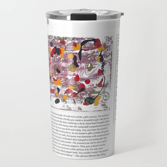 The African Element / Art Stories Travel Mug