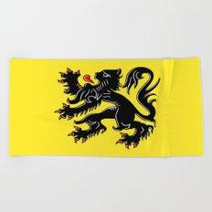Flag of Flanders - Belgium,Belgian,vlaanderen,Vlaam,Oostende,Antwerpen,Gent,Beveren,Brussels,flamish Beach Towel