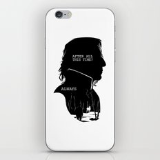 Snape - Quote Silhouette iPhone & iPod Skin