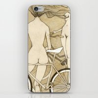 booty iPhone & iPod Skins featuring Bike Booty by Renee Staeck