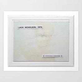jack, unfortunately overexposed Art Print